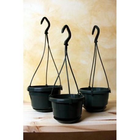Pots suspendu vert avec soucoupe Ø 10 cm
